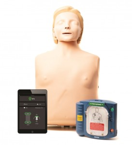 Fantom Laerdal Little Anne QCPR+Trenażer Philips HS1+tablet iPad mini Wi-Fi 64GB